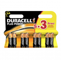 Duracell Plus Power AA 5+3