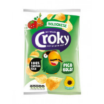 FMCG Import Croky Flat potato chips Bolognese