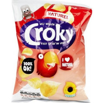 FMCG Import Croky Flat potato chips Naturel