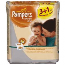 Pampers Naturally Clean Wipes